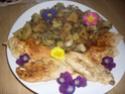escalopes de poulet aux petits légumes.photo Sauta_21