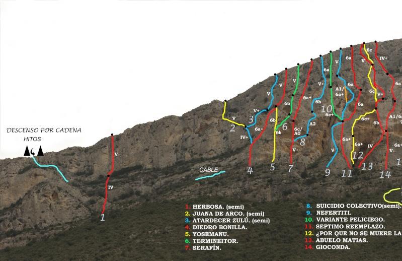 Vias de escalada en La Graja por Jose Miguel Krokis11