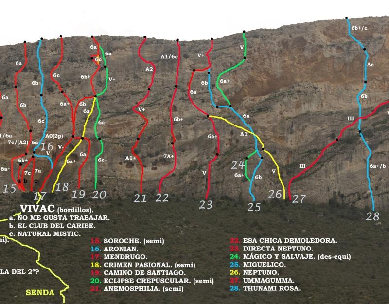 Vias de escalada en La Graja por Jose Miguel Krokis12