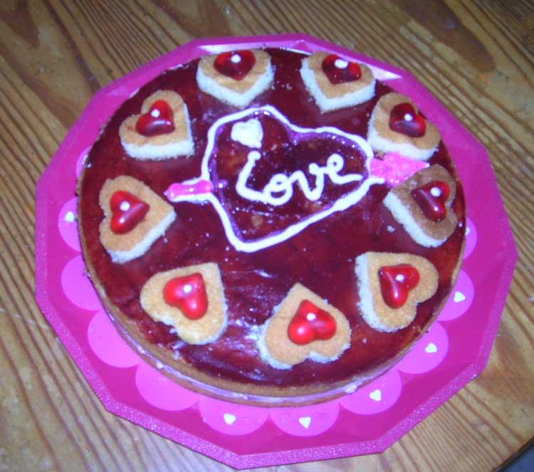 Gâteaux de la saint-valentin Love10