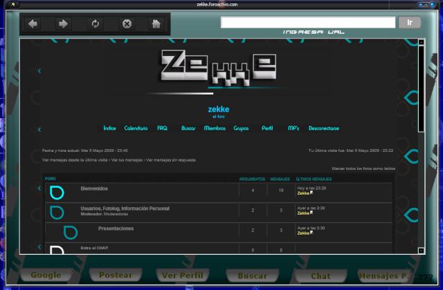 El navegador de la Página Captur11