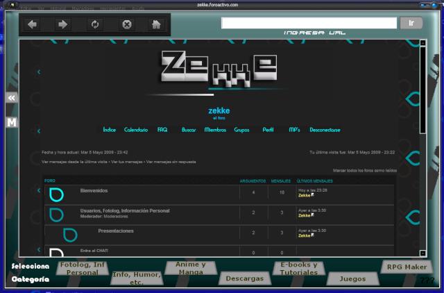 El navegador de la Página Captur12