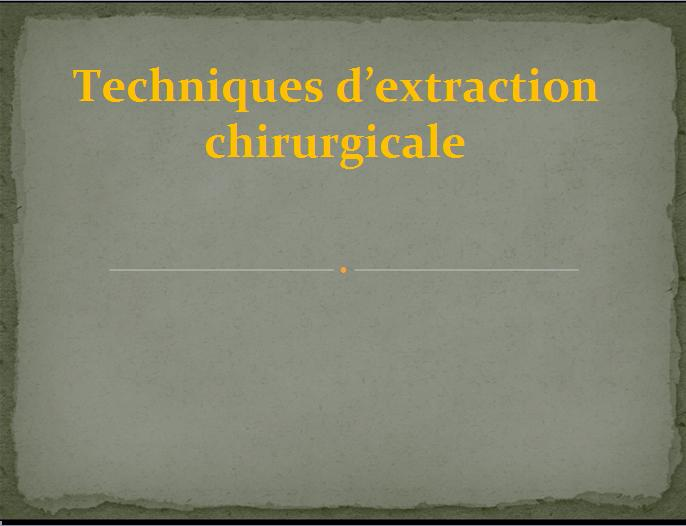 chirurgicale - techniques d'extraction chirurgicale Ccv10