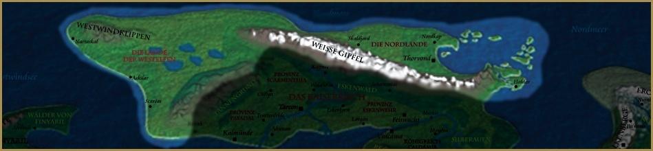 Karte der Nordlande
