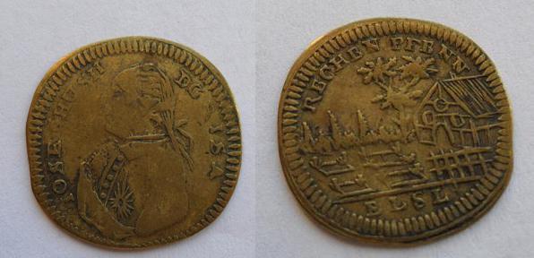 Jetón alemán dedicado a José II de Austria (1765-1790). 220