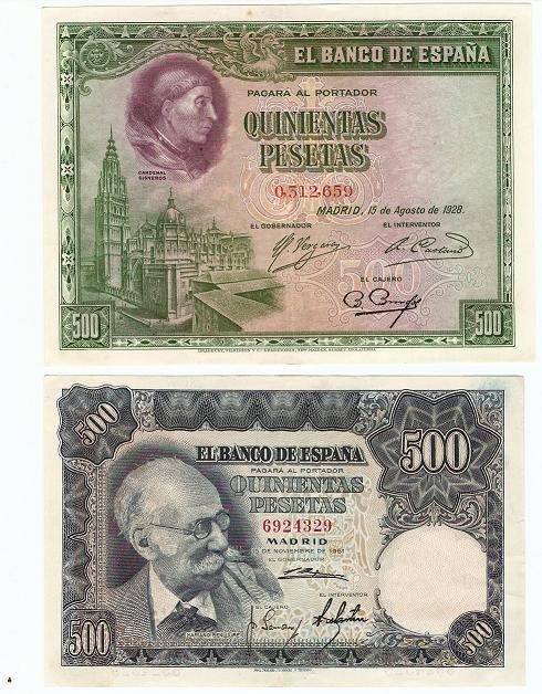 500 Pesetas 1928 y otro de 1951 50052410