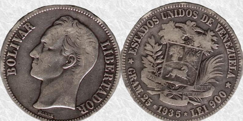 Bolívar de Venezuela, 1935 A30