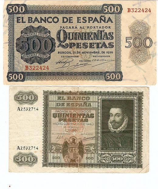 500 pesetas de 1936 y otro del 1940 Escane10