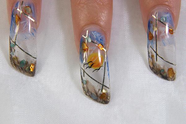 Фотографии интересных дизайнов ногтей Aqua-d12