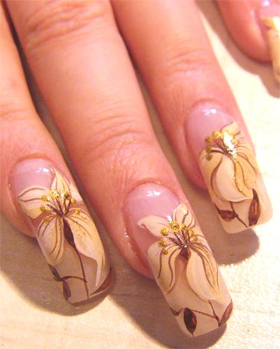 Фотографии интересных дизайнов ногтей French10