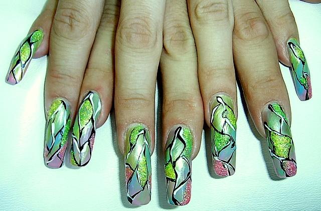 Фотографии интересных дизайнов ногтей Lak_4910