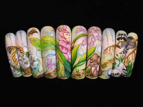 Фотографии интересных дизайнов ногтей Santap11