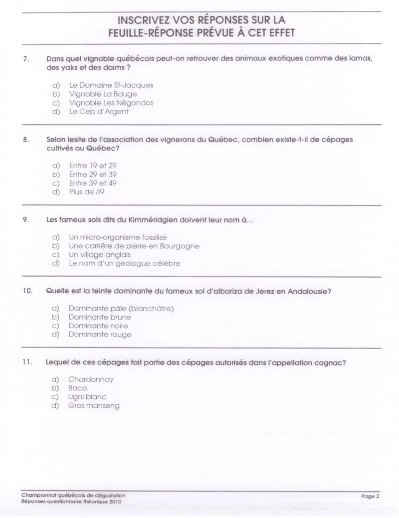 10e édition du Championnat québécois de dégustation - Page 2 Questi11