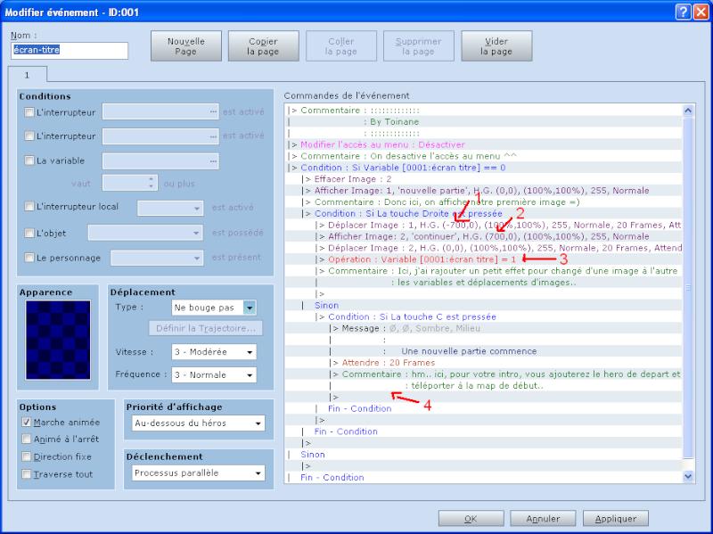 Créer un écran-titre en évent Tuto0610