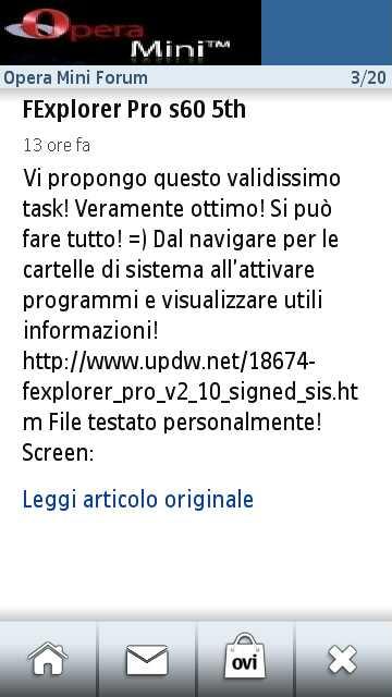 Opera Mini Portal Forum. Ora applicazione su Ovi Store Scr00067
