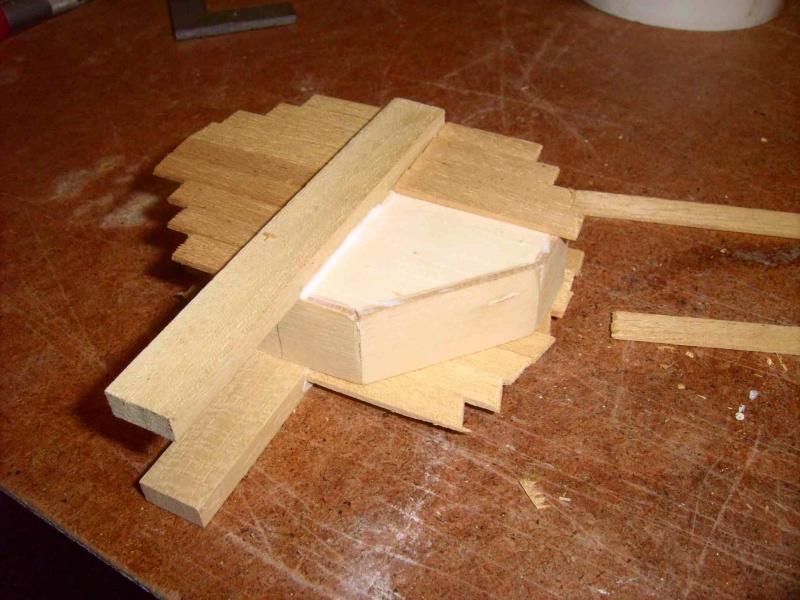 Trebuchet in 1/25 aus Holz Lpic3922