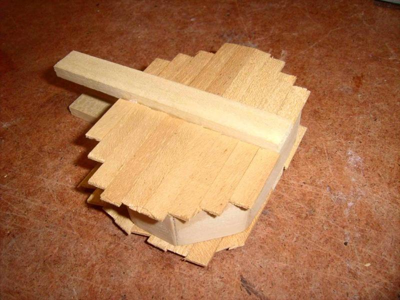 Trebuchet in 1/25 aus Holz Lpic3923