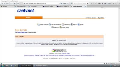 """Portal Cantv.Net cierra """"temporalmente"""" sus foros Cantvf10"""