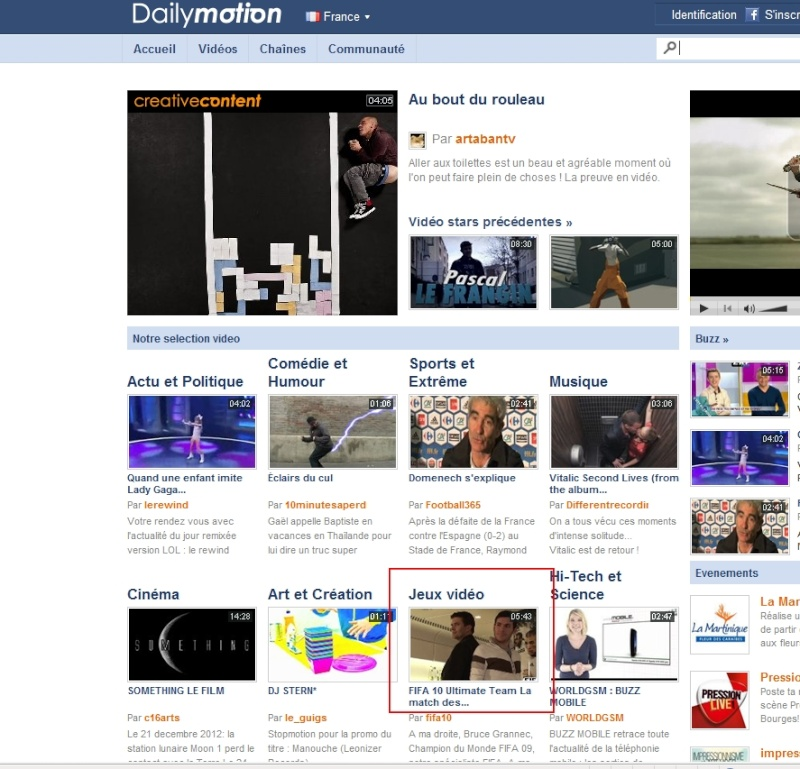 Spank en 1ere page Dailymotion avec Hervé Matoux Bruce_11