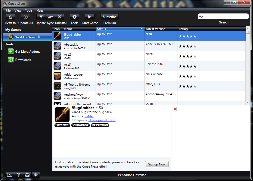 Comment installer des addons Curse10