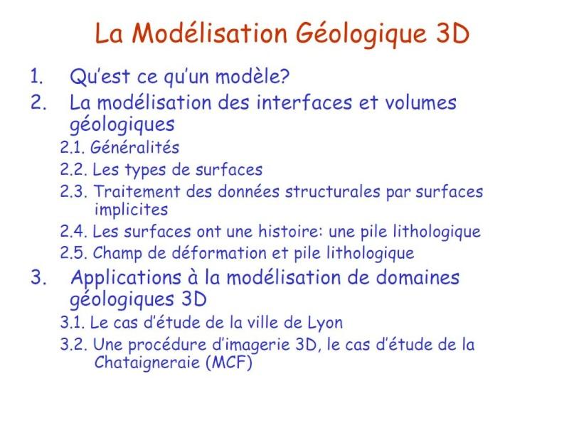 La modélisation géologique Sans_t11