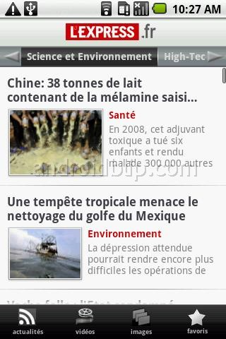 [SOFT] L'EXPRESS : Application officiel du journal L'express [Gratuit] 1_706110