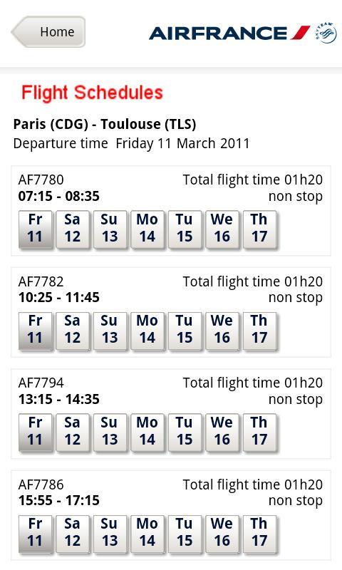 [SOFT] AIR FRANCE: L'application officiel d'Air france [Gratuit] Ss-3-311