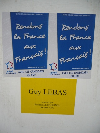 Liste des candidats du PDF cantonales 2011 P1000411