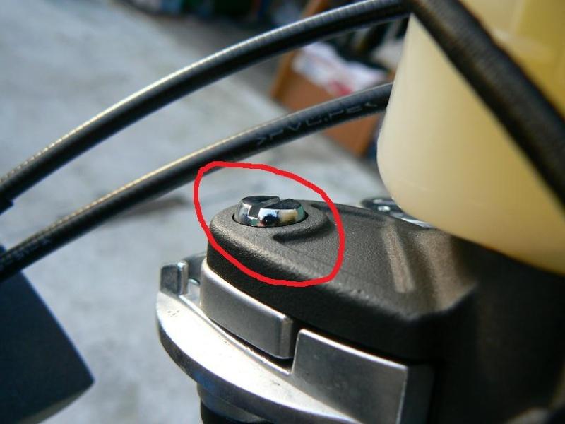 Vis qui tient les leviers ---> normal ou pas ? Vis_fr10
