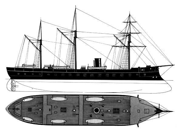 Pirofregata Regina Maria Pia - 1862 N0622-12