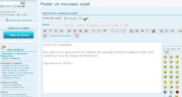Boutons mise en page Editeur réponse normal/rapides disparus sur IE8 sous XP Aditeu11