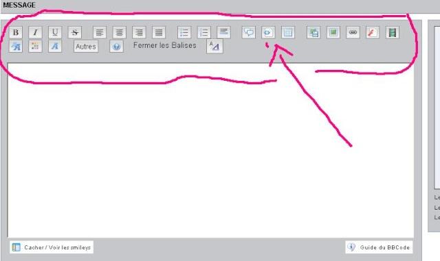 Boutons mise en page Editeur réponse normal/rapides disparus sur IE8 sous XP Ff10