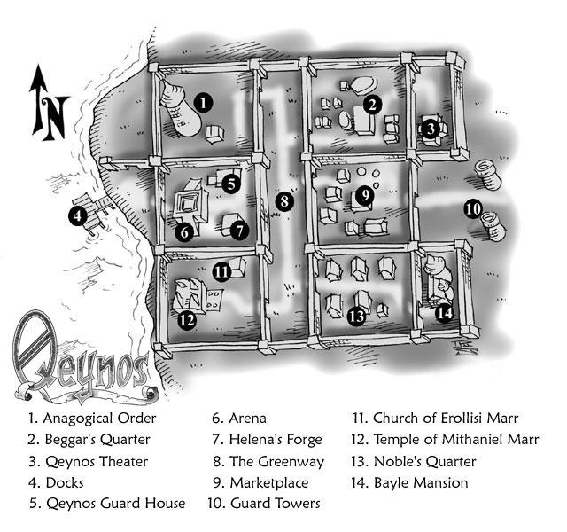Qeynos Starting City Map Qeynos10