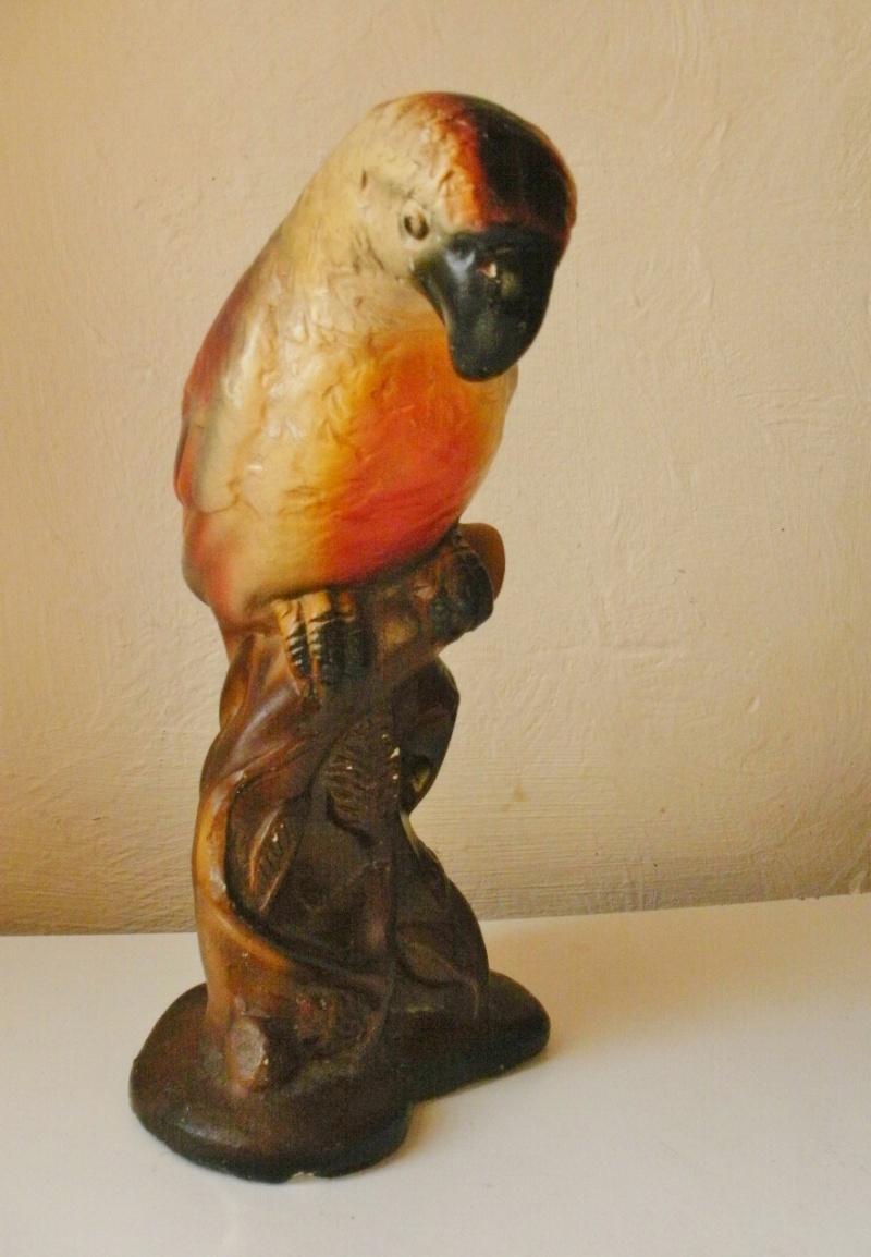 tirelire à casser en terre plâre - perroquet - 25 cms de hauteur Pa160010