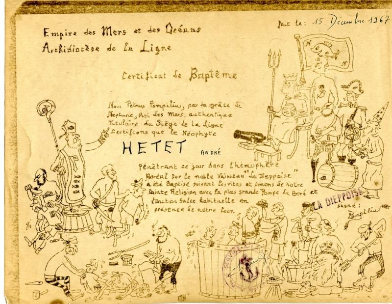 [ Les traditions dans la Marine ] LE PASSAGE DE LA LIGNE - ÉQUATEUR (Sujet unique) - Page 8 Passag10