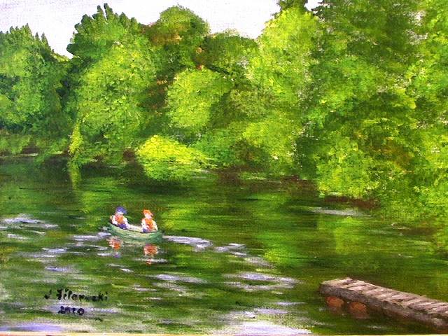my first plein air painting Madrid14