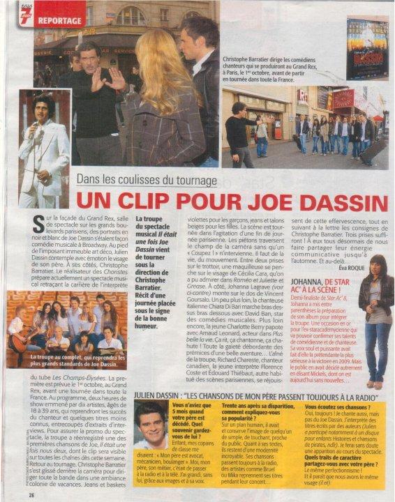 article sur le spectacle il était une fois joe dassin le parisien 7 avril 2010 23634_10