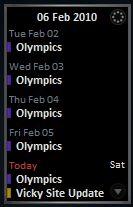 event spanning days hide today's schedule Gcalbu11
