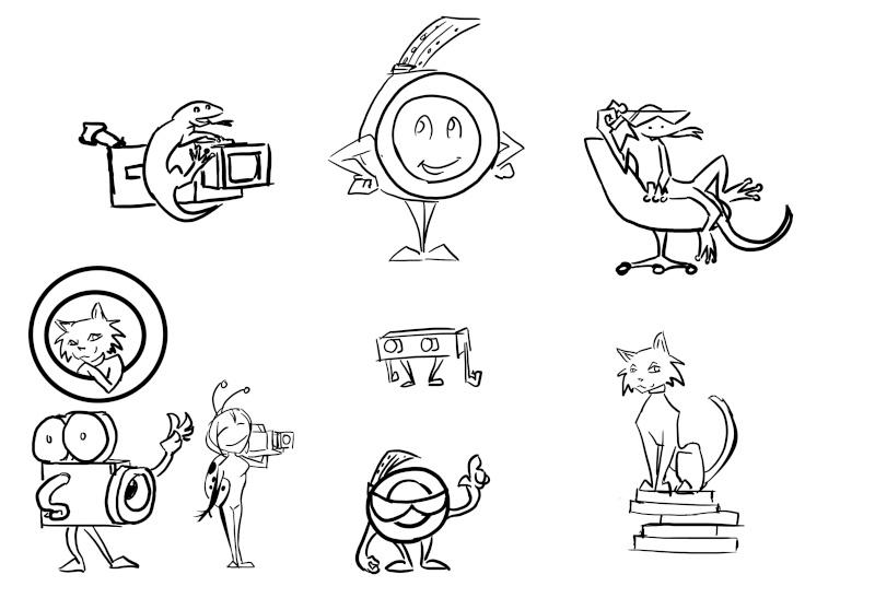 Création de mascotte/personnage pour un blog cinéma ! Essais10