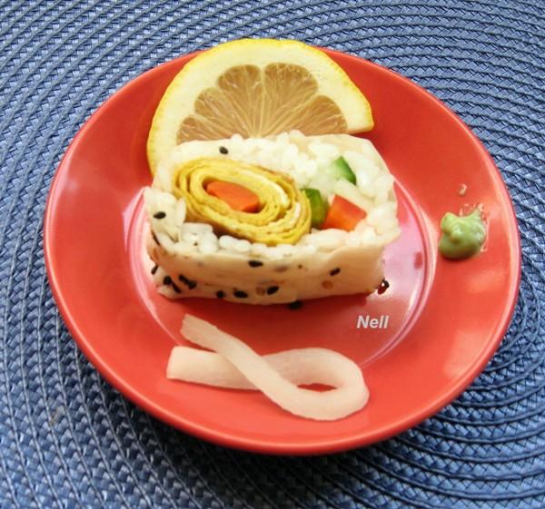 Feuilleté d'oeufs pour sushis, ou repas. Web_1_17
