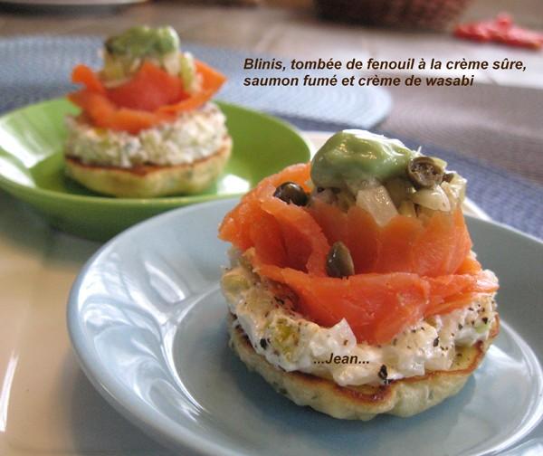 Blinis, tombée de fenouil, saumon fumée et crème de wasabi X_2_im11