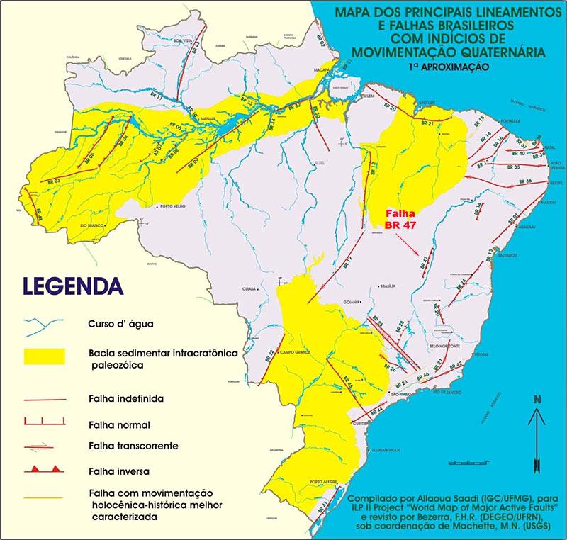 Linhas de Falha no Brasil Mapa_f10