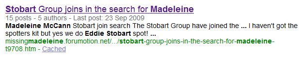 Eddie Stobart joins search for missing Maddie Eddie_10
