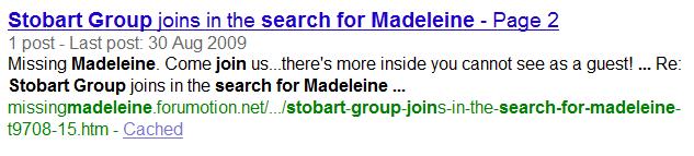 Eddie Stobart joins search for missing Maddie Stobar10