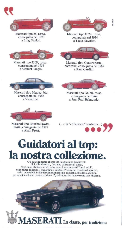 Vecchie pubblicità Maserati Masera10