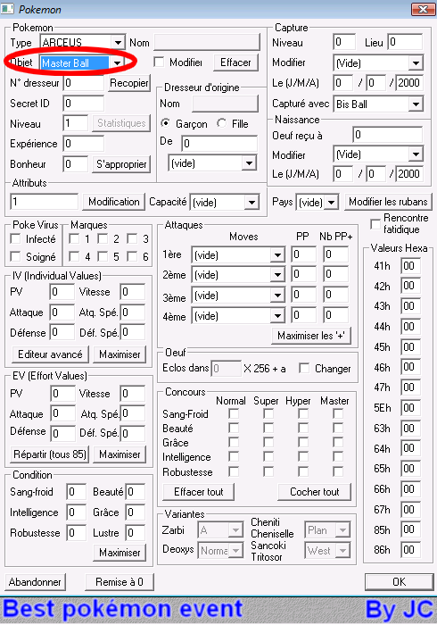 [TUTO]Pokésav création de fichier pokémon Pokesa25
