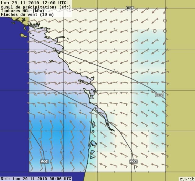 fiabilité / précision des prévisions NOAA (GRIB) 29-11-10