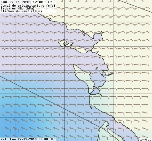 fiabilité / précision des prévisions NOAA (GRIB) 29-11-11