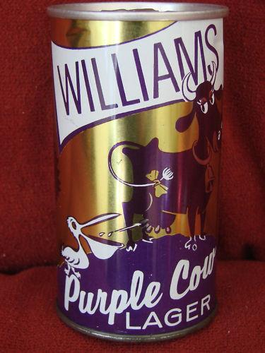 Williams PURPLE COW Lager une simple vache sur une canette de biere  Cow10