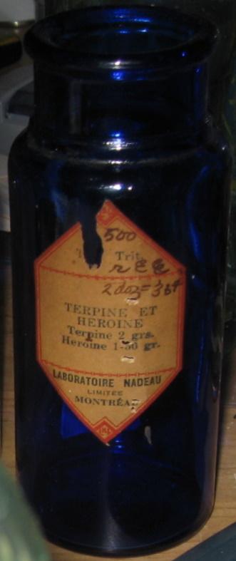 terpine et heroine  laboratoire nadeau montreal  Img_0012